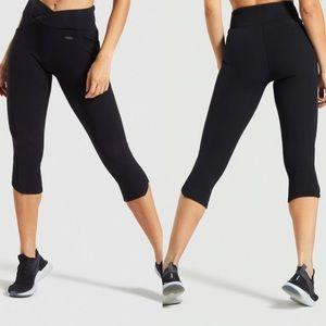 Gymshark Poise Black Cropped Leggings